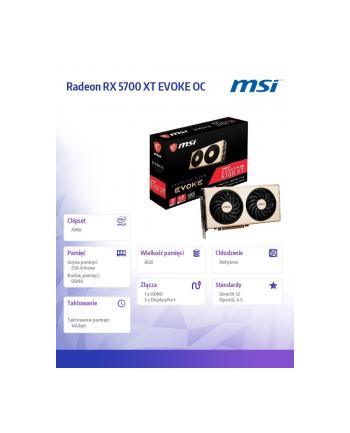 msi Karta graficzna Radeon RX 5700 XT EVOKE OC 8G GDDR6 256BIT HDMI/3DP