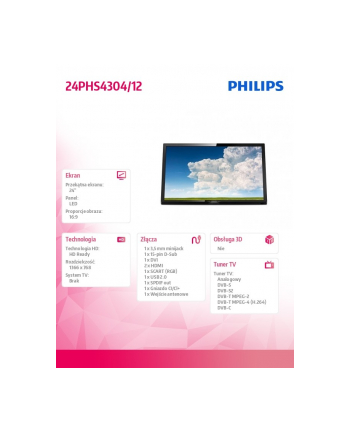 philips Telewizor 24 24PHS4304/12