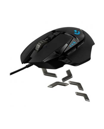 Mysz Logitech G502 Gaming HERO EU 910-005471 (optyczna; 16000 DPI; kolor czarny