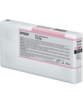 Tusz Epson T9136 Light Magenta | 200 ml
