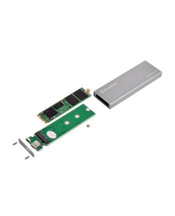 Silverstone SST-MS10C M.2 SATA external SSD Enclosure, USB Type-C, silver