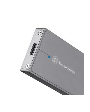 Silverstone SST-MS11C M.2 PCIe NVMe external SSD Enclosure, USB 3.1, charcoal