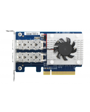 Qnap Dual-port SFP28 25GbE network expansion card; low-profile formfactor; PCIe