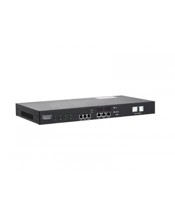 assmann Listwa monitorująco-przełączająca 1U, zasilanie C20 16A/250V ,gniazda 8xC13, 16A