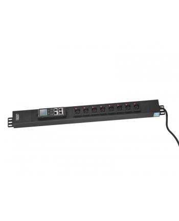 assmann Listwa monitorująca pionowa, wtyk DIN49440 16A/250V, 8xC13 10A/250V, 16A