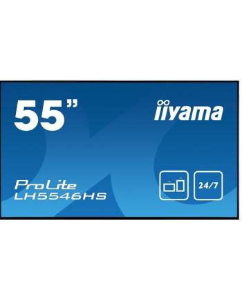 Monitor Iiyama LH5546HS-B1 54.6'', IPS, FullHD, DVI/DP/HDMI/USB, głośniki