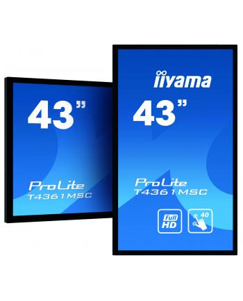 Monitor Iiyama T4361MSC-B1 43'', panel VA multitouch FullHD, DVI/HDMI/DP, spk