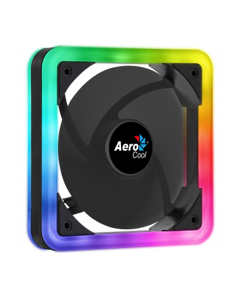 AEROCOOL EDGE ARGB DUAL RING LED Wentylator 140x140x25mm + 6PIN adapter