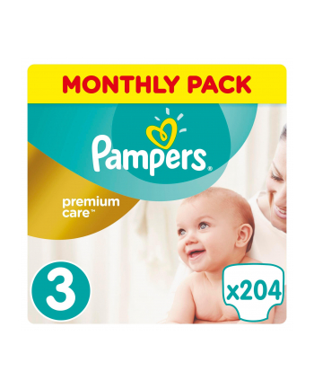 Pampers Pieluchy Premium Monthly Box S3 204