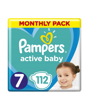 Pampers pieluchy Active Baby Dry Monthly Pack size 7 112szt