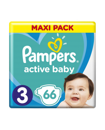 Pampers pieluchy Active Baby Dry Maxi Pack S3 66szt
