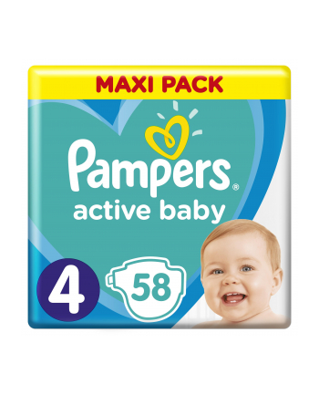 Pampers pieluchy Active Baby Dry Maxi Pack S4 58szt