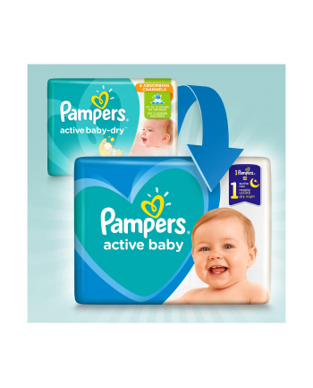 Pampers pieluchy Active Baby Dry Maxi Pack S4+ 53szt