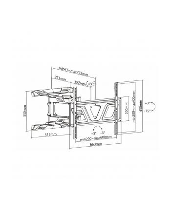 Uchwyt ścienny do LCD Maclean MC-832 (ścienne; 37  - 80 ; max 45kg)