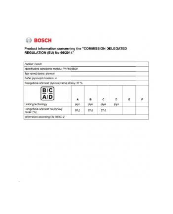 Płyta gazowa BOSCH PNP6B6B90 (4 pola grzejne; kolor czarny)
