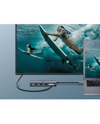 Adapter UGREEN 50538 (USB typu C - HDMI ; kolor szary)