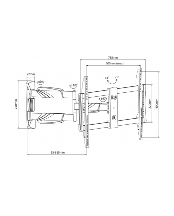 Uchwyt ścienny do telewizora Maclean MC-833 (ścienne; 23  - 70 ; max 35kg)