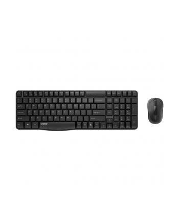 Zestaw bezprzewodowy klawiatura + mysz Rapoo X1800S US-I, czarny