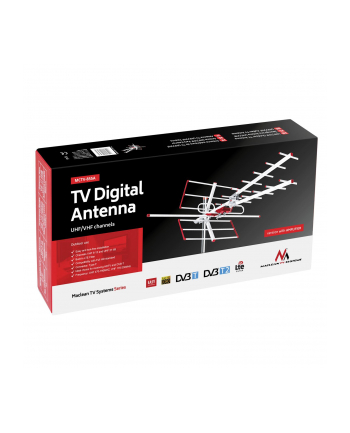 MACLEAN ANTENA ZEWNĘTRZNA TV DVB-T COMBO UHF VHF AKTYWNA MAX 100DB?V FILTR LTE MCTV-855A