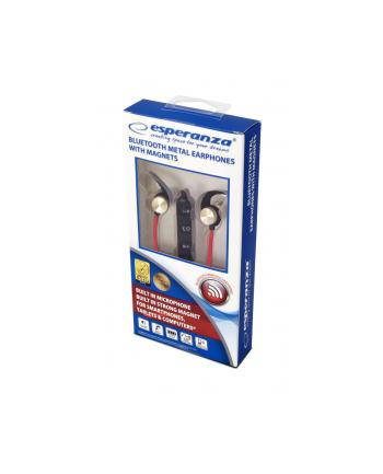 Słuchawki z mikrofonem Esperanza EH186L douszne Bluetooth metalowe miedziane