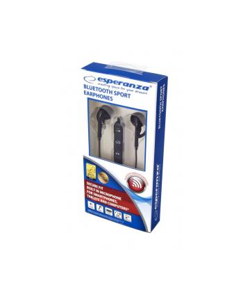 Słuchawki z mikrofonem Esperanza EH187K douszne Bluetooth sportowe czarne