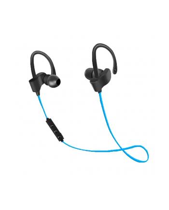 Słuchawki z mikrofonem Esperanza EH188B Douszne Bluetooth Sportowe czarno-niebieski