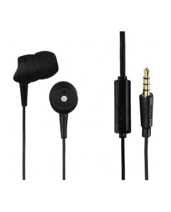 HAMA POLSKA Słuchawki z mikrofonem Hama BASIC4PHONE douszne czarne