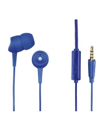 HAMA POLSKA Słuchawki z mikrofonem Hama BASIC4PHONE douszne niebieskie