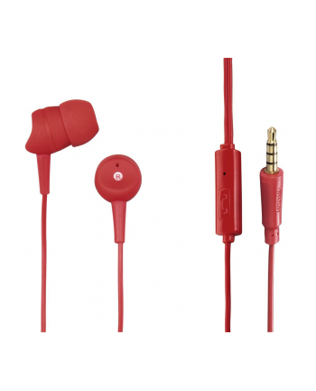 HAMA POLSKA Słuchawki z mikrofonem Hama BASIC4PHONE douszne czerwone