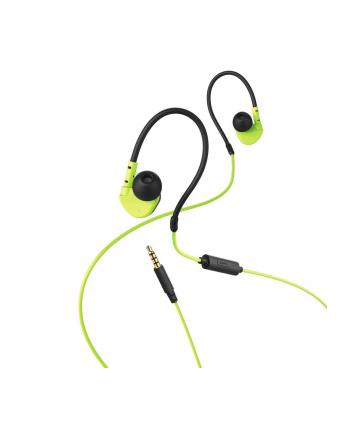 HAMA POLSKA Słuchawki z mikrofonem Hama ''Active'' dokanałowe czarno-zielone