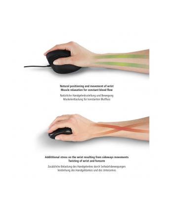 Mysz bezprzewodowa Hama EMW-500 ergonomiczna, czarna