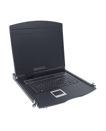 Konsola 17'' KVM Intellinet Rack 19'' z klawiaturą, touchpadem, czarna