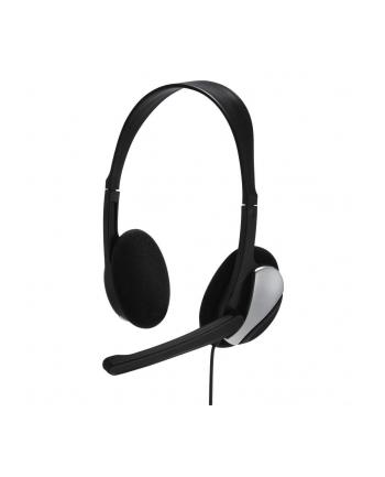 HAMA POLSKA Słuchawki z mikrofonem multimedialne Hama Essential HS 200 czarne