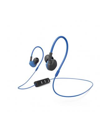 HAMA POLSKA Słuchawki z mikrofonem Hama ''Run BT'' dokanałowe czarno-niebieskie
