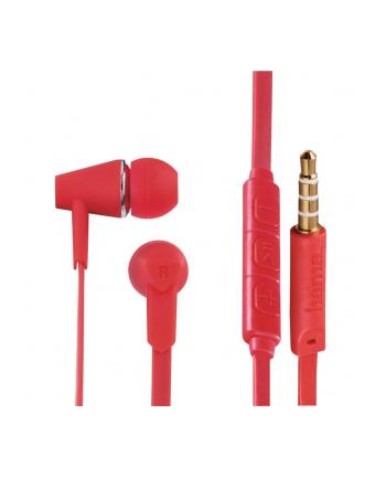 HAMA POLSKA Słuchawki z mikrofonem Hama''Joy'' dokanałowe czerwone