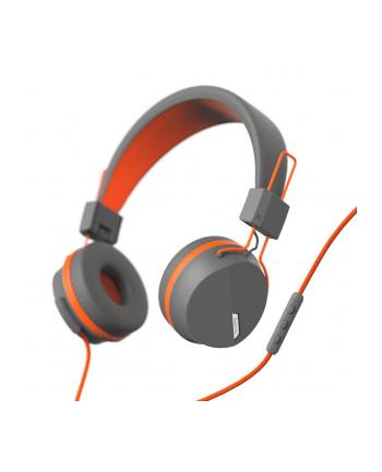 HAMA POLSKA Słuchawki z mikrofonem Hama''NEXT'' nauszne szaro/pomarańczowe