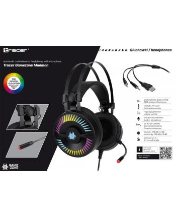 Słuchawki z mikrofonem Tracer GAMEZONE Madman RGB