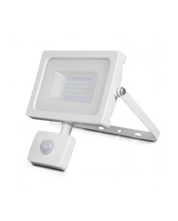 v-tac Naświetlacz LED 181x205x57mm 20Wat 6000K 1600lm IP44 biały aluminium