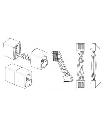 efb elektronik EFB Adapter łącznik RJ45 UTP