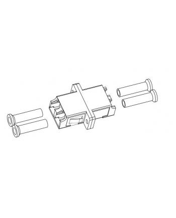 efb elektronik EFB Adapter LC/LC Duplex wielomodowy OM3/OM4, Aqua