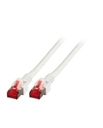 efb elektronik EFB Patch cord S/FTP, kat. 6, LSZH, 0.5m, miedź, biały
