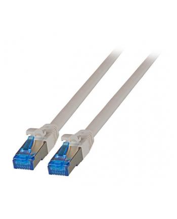 efb elektronik EFB Patch cord S/FTP kat.6A RJ45 TPE SUPERFLEX LSZH 15cm, na kablu kat.7, szary