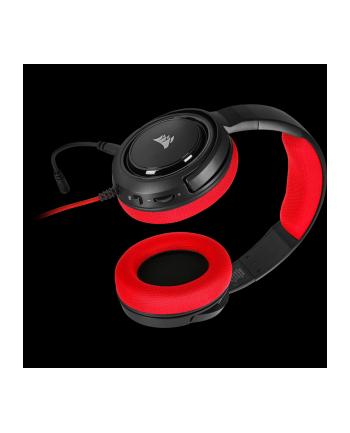 Corsair słuchawki gamingowe HS35 Stereo, Red (EU)