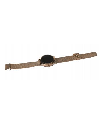 Smartwatch oromed Smart Lady Gold Puls Sport Krokomierz IP68  (Aparat - pilot do robienia zdjęć na telefonie  Dzienny cel długości snu  Dzienny cel przebytych kroków  Funkcja nie przeszkadzać  Funkcja znajdź smartwatch  Historia przebytej trasy  Prz