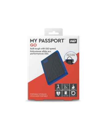 western digital WD My Passport Go 1TB Solid State Drive (black / blue, USB-A 3.2 (5 Gbit / s))