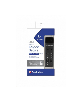 Verbatim Secure Keypad 64GB, USB flash drive (black, USB-C)