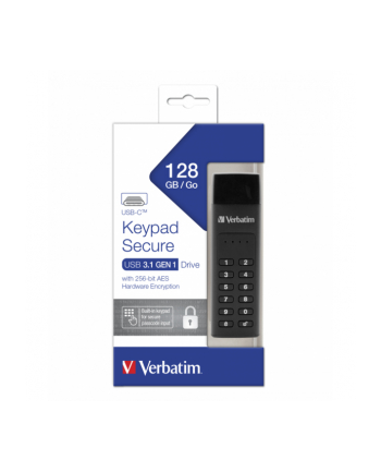 Verbatim Secure Keypad 128 GB, USB flash drive (black, USB-C)
