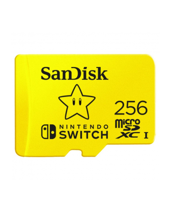 SanDisk Nintendo Switch 256 GB microSDHC, Memory Card (yellow, UHS-I U3, V30)