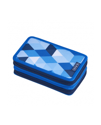 Herlitz Triple Case 31pcs. Blue cubes