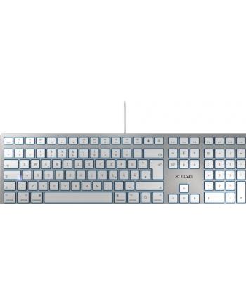 CHERRY KC 6000 SLIM FOR MAC, keyboard(silver / white)
